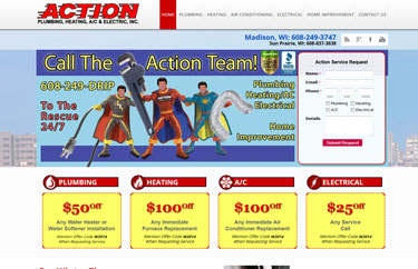 iComEx Launches New Action Plumbing Heating Air Conditioning & Electrical Website