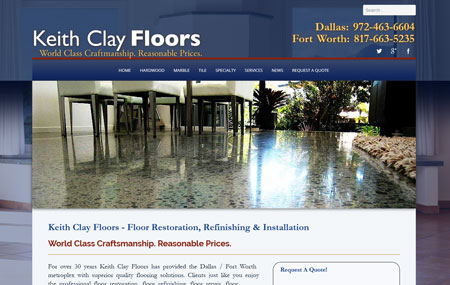Keith Clay Floors Redesigned Website